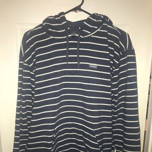 Navy blue and white striped vans hoodie
